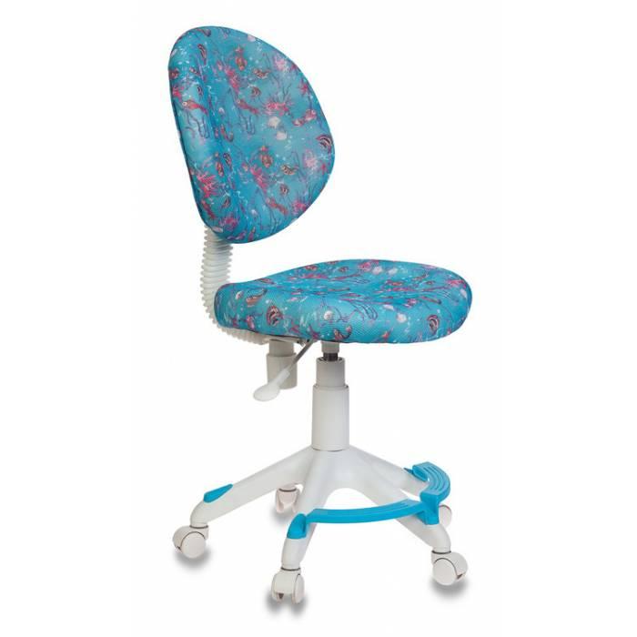 Кресло детское Бюрократ KD-W6-F/AQUA голубой марки сетка (пластик белый) купить по выгодным ценам