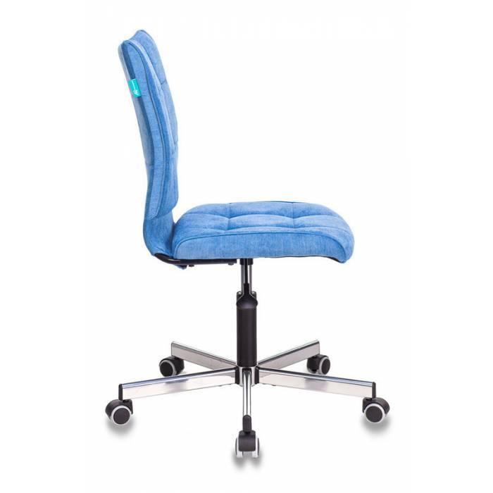 Кресло Бюрократ CH-330M голубой Velvet 86 крестовина металл хром купить по выгодным ценам