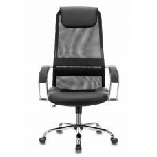 Кресло руководителя Бюрократ CH-608SL/BLACK спинка сетка черный TW-01 TW-11 искусст.кожа/ткань крестовина хром