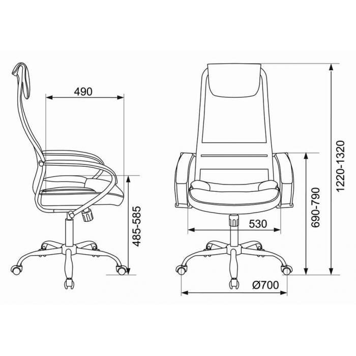 Кресло Бюрократ CH-608SL черный TW-01 TW-11 искусст.кожа/ткань с подголов. крестовина металл хром купить по выгодным ценам