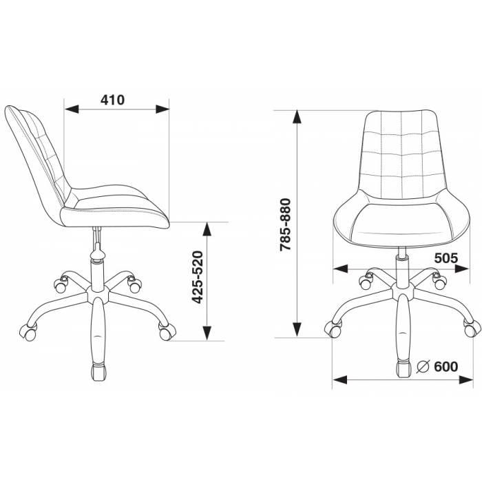 Кресло Бюрократ CH-350SL/IVORY светло-бежевый искусст.кожа/ткань крестовина хром купить по выгодным ценам