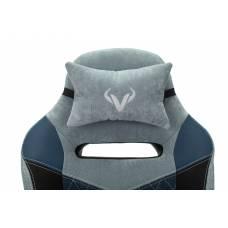 Игровое кресло Бюрократ VIKING 6 KNIGHT Fabric синий с подголов. крестовина металл