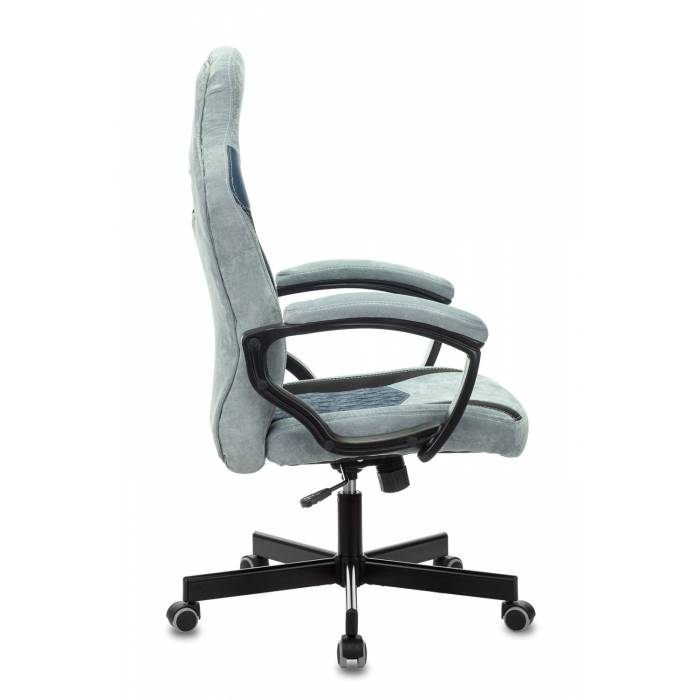 Кресло игровое Бюрократ VIKING 6 KNIGHT BL FABRIC синий крестовина пластик купить по выгодным ценам