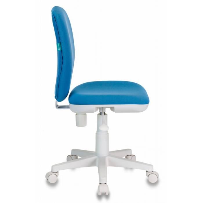Кресло детское Бюрократ KD-W10/26-24 голубой 26-24 (пластик белый) купить по выгодным ценам
