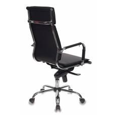 Кресло руководителя Бюрократ CH-993MB/BLACK черный искусственная кожа крестовина хром