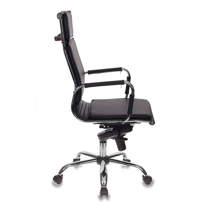 Кресло руководителя Бюрократ CH-993MB/BLACK черный искусственная кожа крестовина хром купить по выгодным ценам