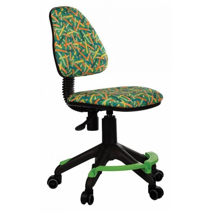 Детское кресло Бюрократ KD-4-F зеленый карандаши крестовина пластик подст.для ног купить по выгодным ценам