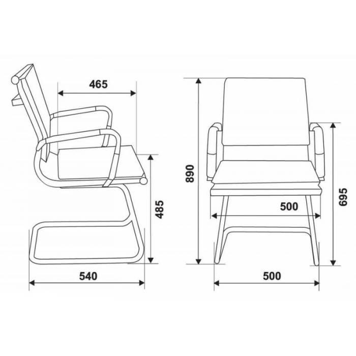 Кресло Бюрократ CH-993-Low-V серый искусственная кожа низк.спин. полозья металл хром купить по выгодным ценам