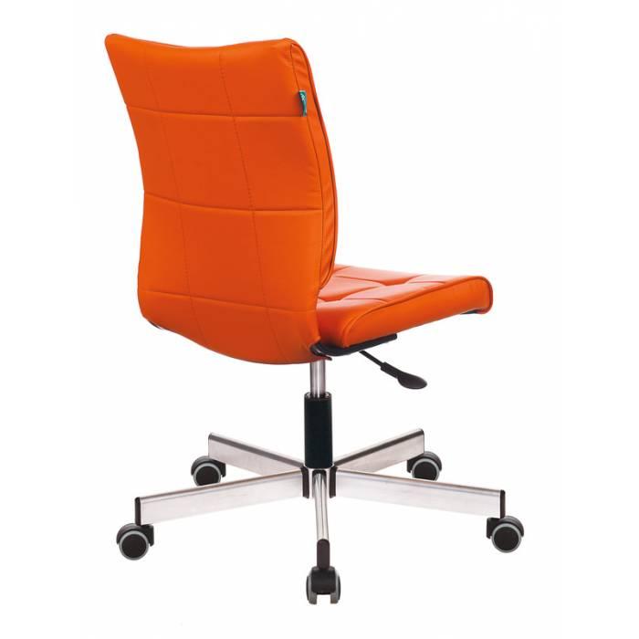 Кресло Бюрократ CH-330M/OR-20 без подлокотников оранжевый искусственная кожа крестовина металл купить по выгодным ценам