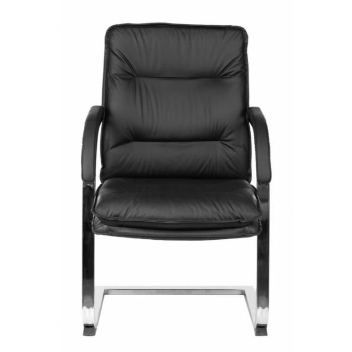 Кресло Бюрократ T-9927SL-LOW-V/BLACK на полозьях черный кожа купить по выгодным ценам