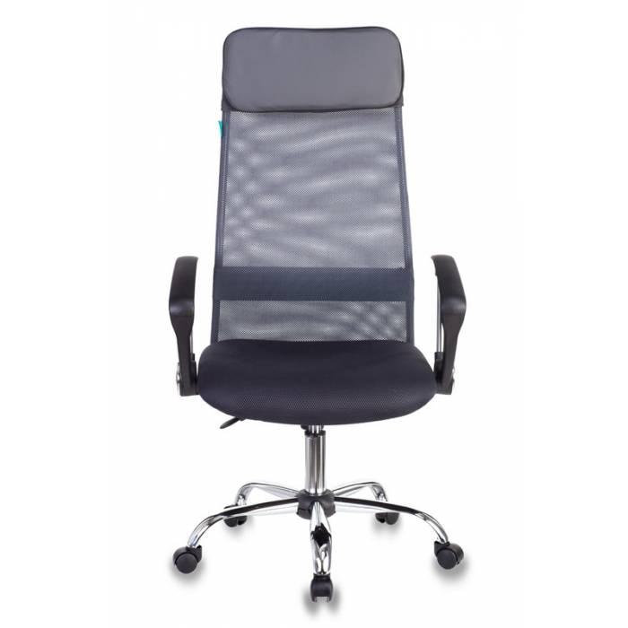 Кресло руководителя Бюрократ KB-6N/SL/DG/TW-12 серый TW-04 TW-12 сетка крестовина хром купить по выгодным ценам