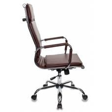 Кресло руководителя Бюрократ CH-993/brown коричневый искусственная кожа крестовина хром