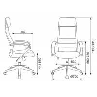 Кресло руководителя Бюрократ CH-608/BLACK спинка сетка черный TW-01 TW-11 искусст.кожа/ткань