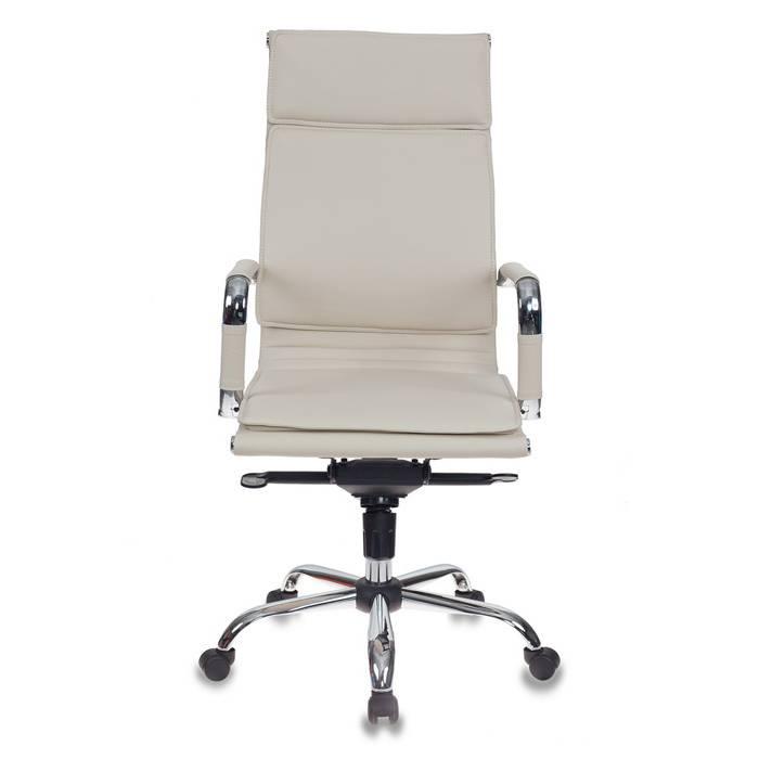Кресло руководителя Бюрократ CH-993MB/IVORY слоновая кость искусственная кожа крестовина хром купить по выгодным ценам