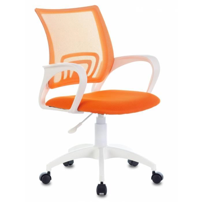 Кресло Бюрократ CH-W695NLT оранжевый TW-38-3 TW-96-1 сетка/ткань крестовина пластик пластик белый купить по выгодным ценам