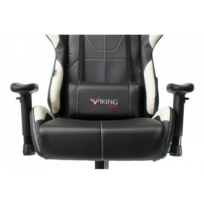 Игровое кресло Бюрократ VIKING 5 AERO черный/белый искусственная кожа с подголов. крестовина пластик купить по выгодным ценам