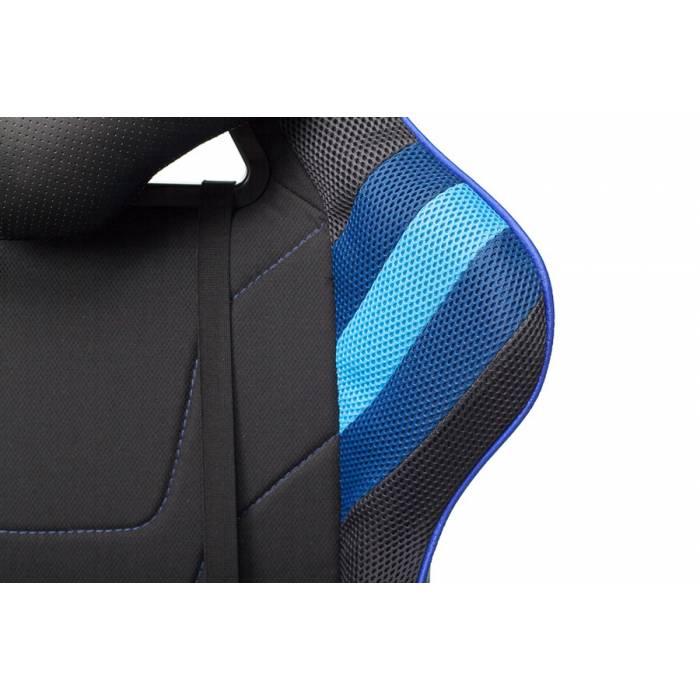 Кресло игровое Бюрократ VIKING 4 AERO BLUE две подушки черный/синий искусст.кожа/ткань купить по выгодным ценам