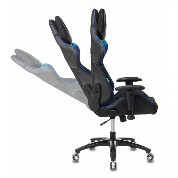 Игровое кресло Бюрократ VIKING 4 AERO черный/синий искусст.кожа/ткань с подголов. крестовина пластик купить по выгодным ценам