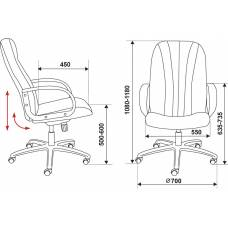Кресло руководителя Бюрократ T-898/#B черный искусственная кожа