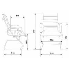 Кресло Бюрократ CH-883-LOW-V/BLACK низкая спинка черный искусственная кожа