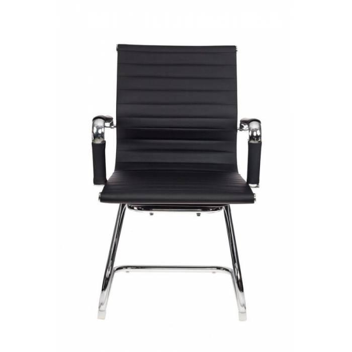 Кресло Бюрократ CH-883-LOW-V/BLACK низкая спинка черный искусственная кожа купить по выгодным ценам