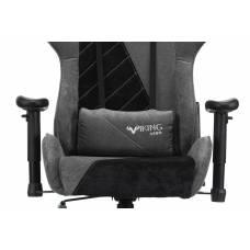 Кресло игровое Бюрократ VIKING X Fabric серый/черный с подголов. крестовина пластик (VIKING X BLACK)