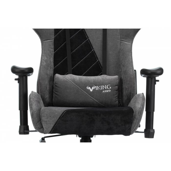 Кресло игровое Бюрократ VIKING X Fabric серый/черный с подголов. крестовина пластик (VIKING X BLACK) купить по выгодным ценам