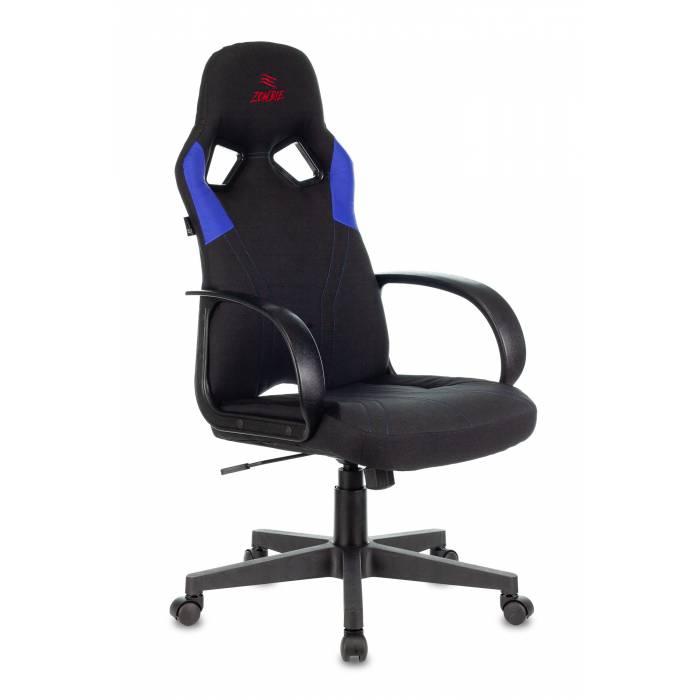 Кресло игровое Бюрократ ZOMBIE RUNNER BLUE черный/синий текстиль/эко.кожа крестовина пластик купить по выгодным ценам