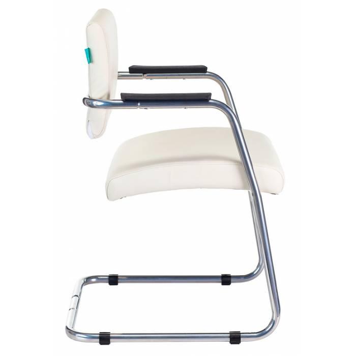 Кресло Бюрократ CH-271N-V/SL/OR-10 на полозьях молочный зеркальный хром искусственная кожа купить по выгодным ценам