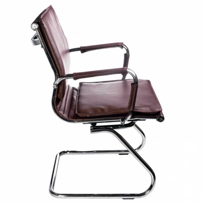 Кресло Бюрократ CH-993-Low-V/Brown низкая спинка коричневый искусственная кожа купить по выгодным ценам