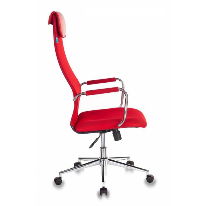 Кресло руководителя Бюрократ KB-9N/R/TW-97N красный TW-35N TW-97N сетка крестовина хром купить по выгодным ценам