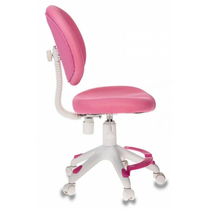 Кресло детское Бюрократ KD-W6-F/TW-13A розовый (пластик белый) купить по выгодным ценам