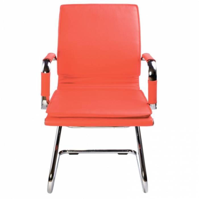 Кресло Бюрократ CH-993-Low-V/Red низкая спинка красный искусственная кожа купить по выгодным ценам
