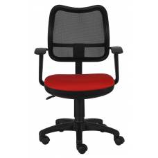 Кресло Бюрократ CH-797AXSN/26-22 спинка сетка черный сиденье красный 26-22