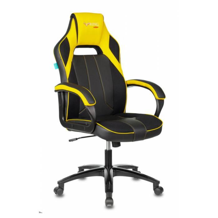 Кресло игровое Бюрократ VIKING 2 AERO YELLOW черный/желтый искусст.кожа/ткань купить по выгодным ценам