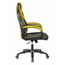Кресло игровое Бюрократ VIKING 2 AERO YELLOW черный/желтый искусст.кожа/ткань