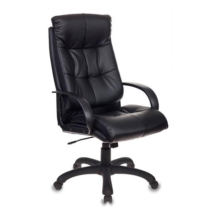 Кресло руководителя Бюрократ CH-824B/LBLACK черный искусственная кожа купить по выгодным ценам