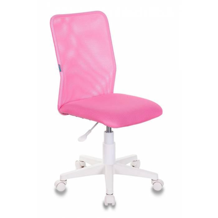 Кресло детское Бюрократ KD-9/WH/TW-13A розовый TW-03A TW-13А сетка/ткань (пластик белый) купить по выгодным ценам