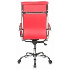 Кресло руководителя Бюрократ CH-993/red красный искусственная кожа крестовина хром
