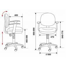 Кресло детское Бюрократ CH-W356AXSN/15-75 оранжевый 15-75 колеса белый/оранжевый (пластик белый)