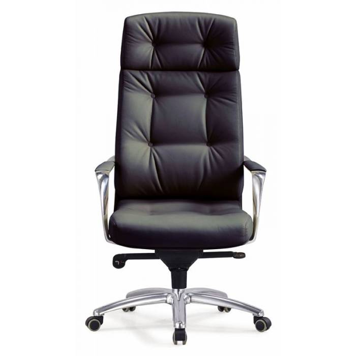 Кресло руководителя Бюрократ _DAO/BLACK черный кожа крестовина алюминий купить по выгодным ценам