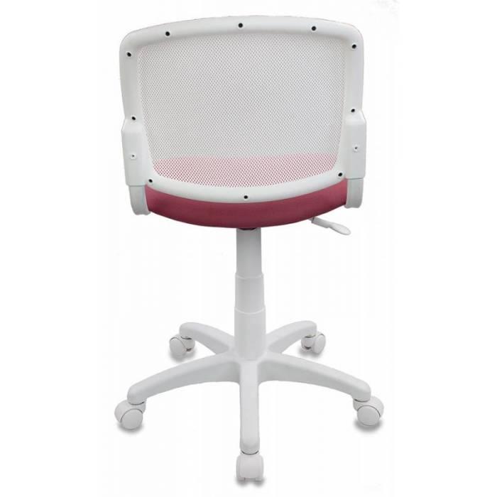 Кресло детское Бюрократ CH-W296NX/26-31 спинка сетка белый TW-15 сиденье розовый 26-31 купить по выгодным ценам