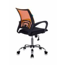 Кресло Бюрократ CH-695N/SL/OR/BLACK спинка сетка оранжевый TW-38-3 сиденье черный TW-11 крестовина хром
