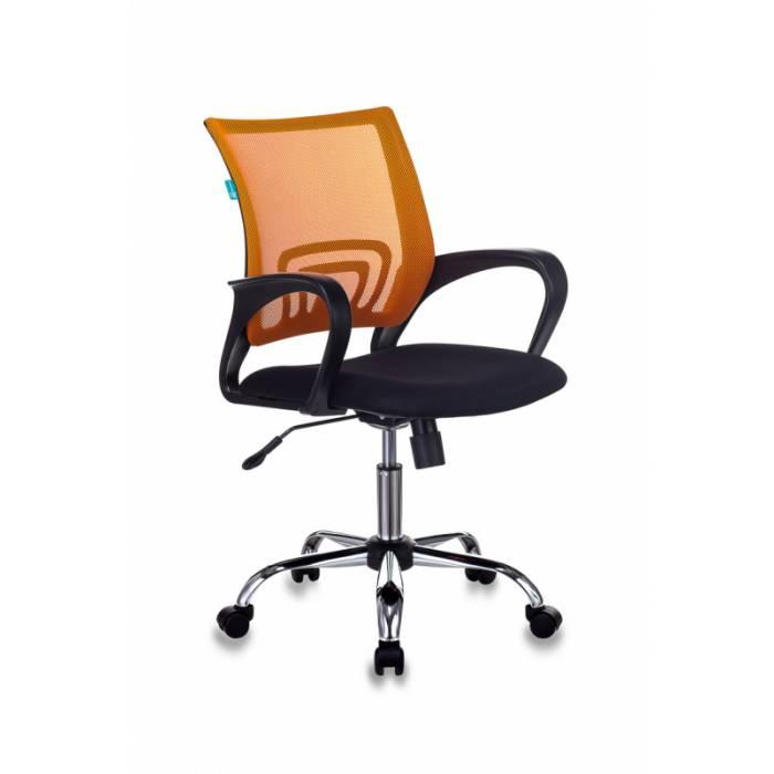 Кресло Бюрократ CH-695N/SL/OR/BLACK спинка сетка оранжевый TW-38-3 сиденье черный TW-11 крестовина хром купить по выгодным ценам