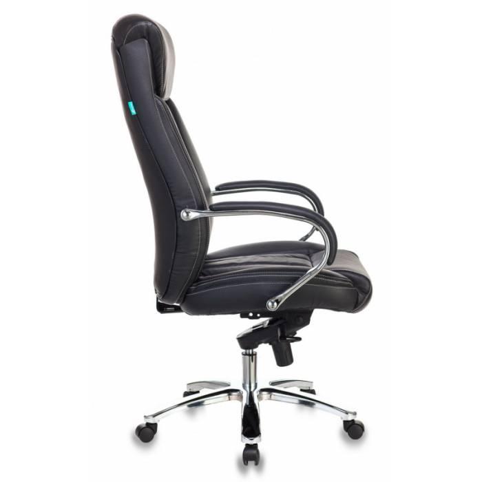 Кресло руководителя Бюрократ T-9922SL/BLACK черный кожа крестовина хром купить по выгодным ценам