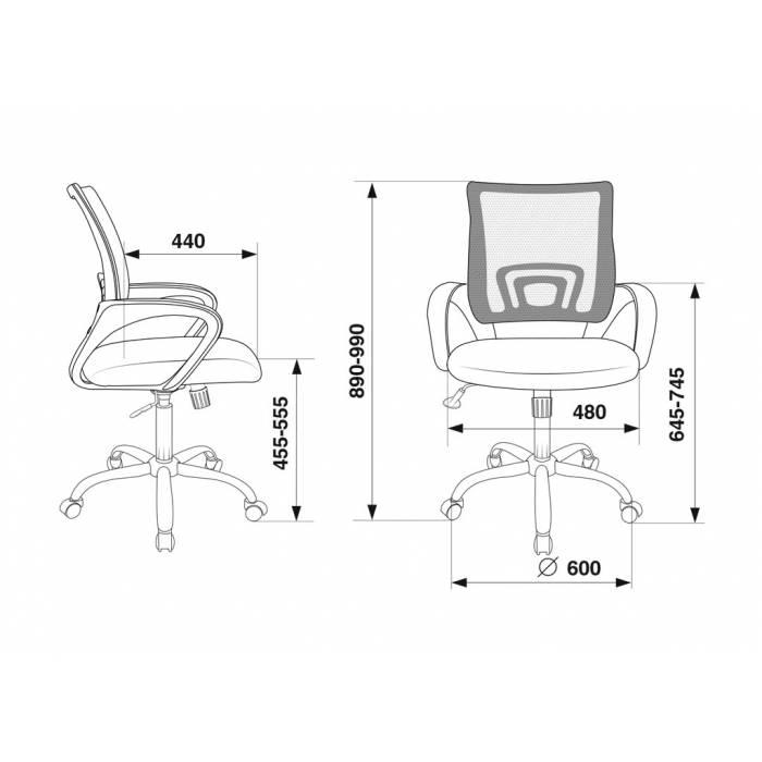 Кресло Бюрократ CH-695N/SL/SD/TW-11 салатовый TW-03A сиденье черный TW-11 крестовина хром купить по выгодным ценам