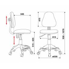 Кресло детское Бюрократ KD-4-F/TW-96-1 оранжевый TW-96-1