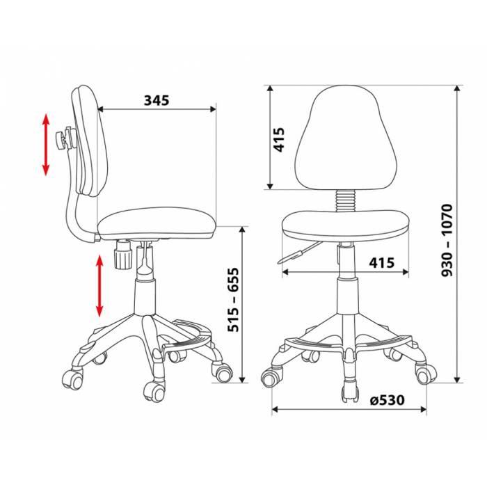 Кресло детское Бюрократ KD-4-F/TW-96-1 оранжевый TW-96-1 купить по выгодным ценам