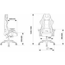 Игровое кресло Бюрократ VIKING 4 AERO белый/синий/красный искусст.кожа/ткань с подголов. крестовина пластик