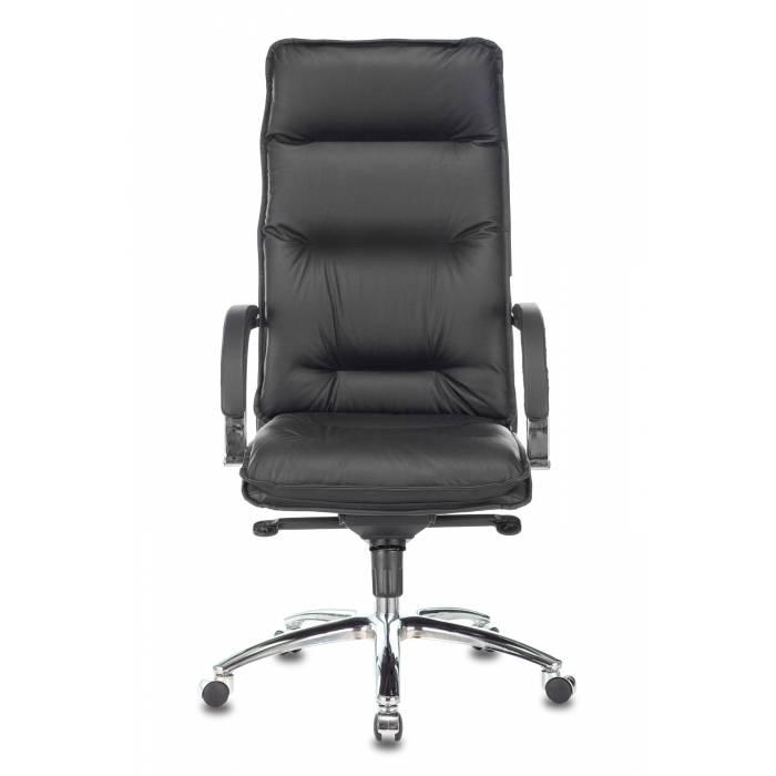 Кресло Бюрократ T-9927SL черный кожа крестовина металл хром купить по выгодным ценам